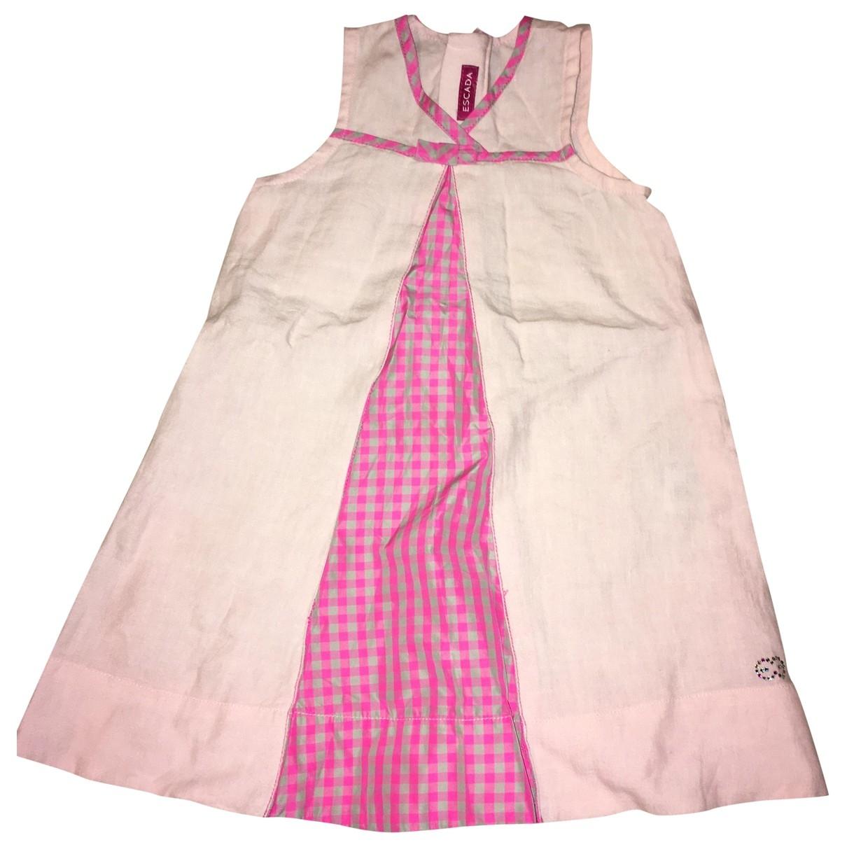 Escada - Robe    pour enfant en lin - rose