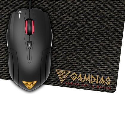 Gamdias DEMETER E1 3200 dpi Optical Gaming Mouse & NYX E1 Gaming Mouse Mat Combo