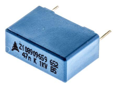 EPCOS 47nF Polypropylene Capacitor PP 1 kV dc, 250 V ac ±10% Tolerance Through Hole B32652 Series