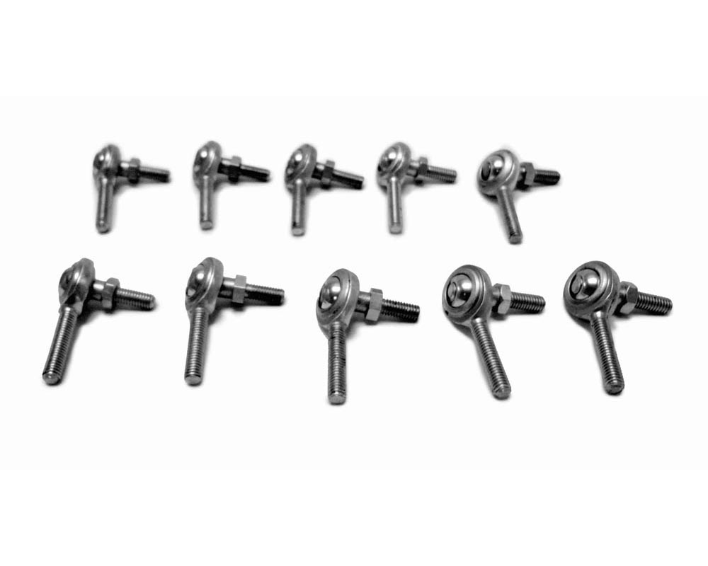 Steinjager J0014654 Inch Rod Ends Male Steel Housing, 2 Piece 1/4-28 LH Studded 10 Pack