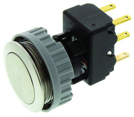 Schurter Single Pole Double Throw (SPDT) Momentary Push Button Switch, IP67, Screw Mount, 125/250V ac