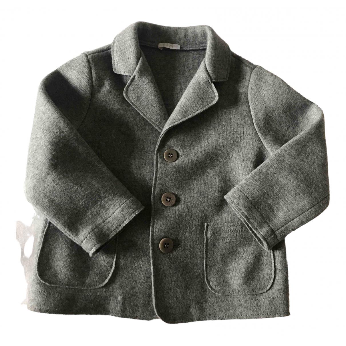 Il Gufo - Blousons.Manteaux   pour enfant en laine - gris