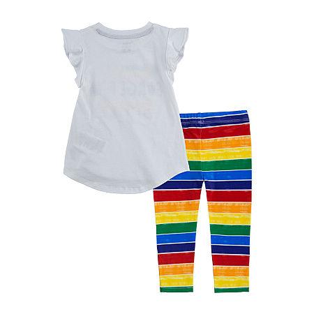 Crayola Baby Girls 2-pc. Legging Set, 24 Months , White