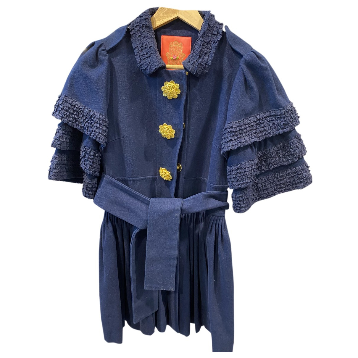 Manoush - Manteau   pour femme en coton - bleu