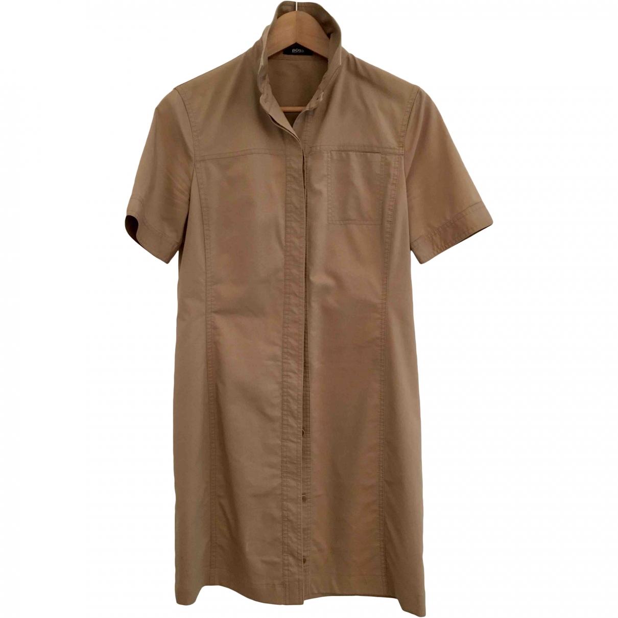 Hugo Boss - Robe   pour femme en coton - elasthane