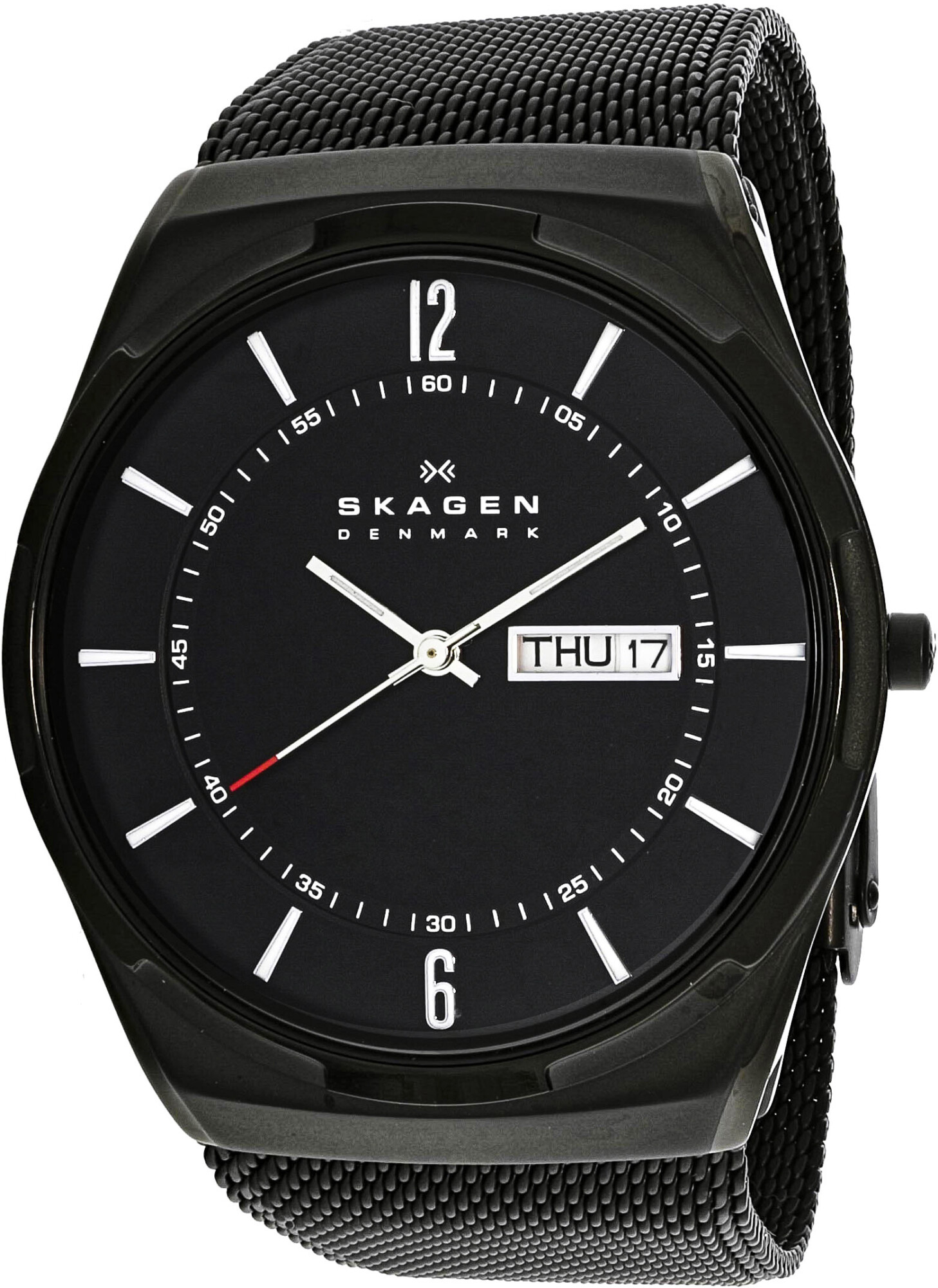 Skagen Mens Aktiv SKW6006 Black Stainless-Steel Quartz Fashion Watch