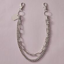 1pc Ring Decor Pant Chain