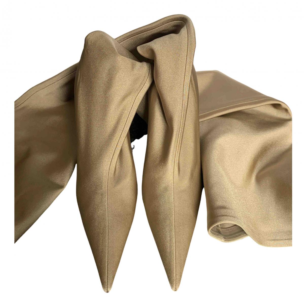 Balenciaga Knife Beige Cloth Boots for Women 39 EU