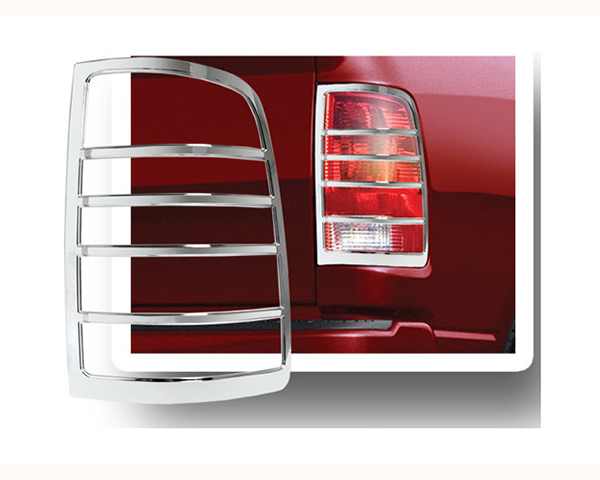 Quality Automotive Accessories ABS Plastic with Chrome Overlay 2-Piece Tail Light Bezel Dodge Ram 1500 2010