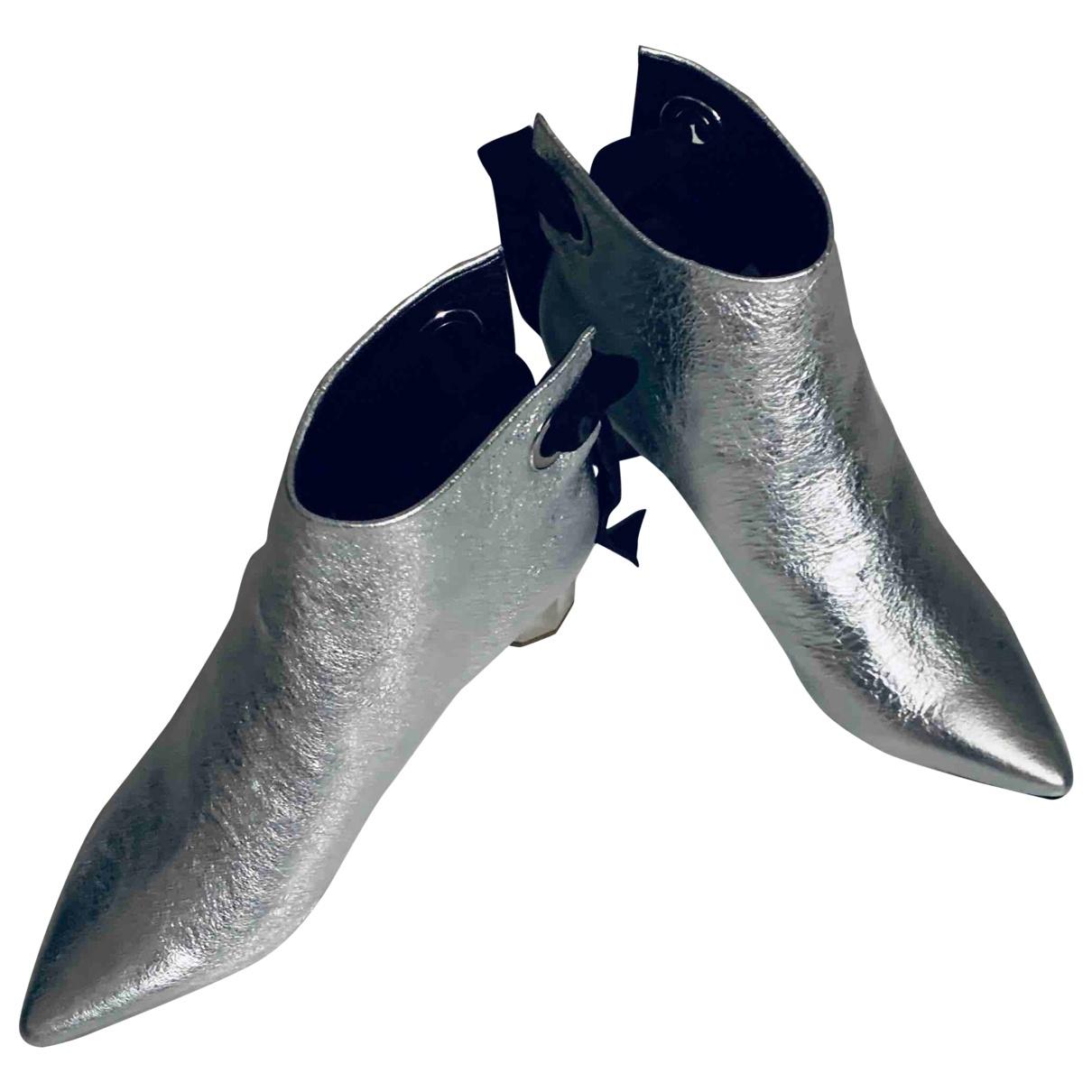 Proenza Schouler - Boots   pour femme en cuir - metallise