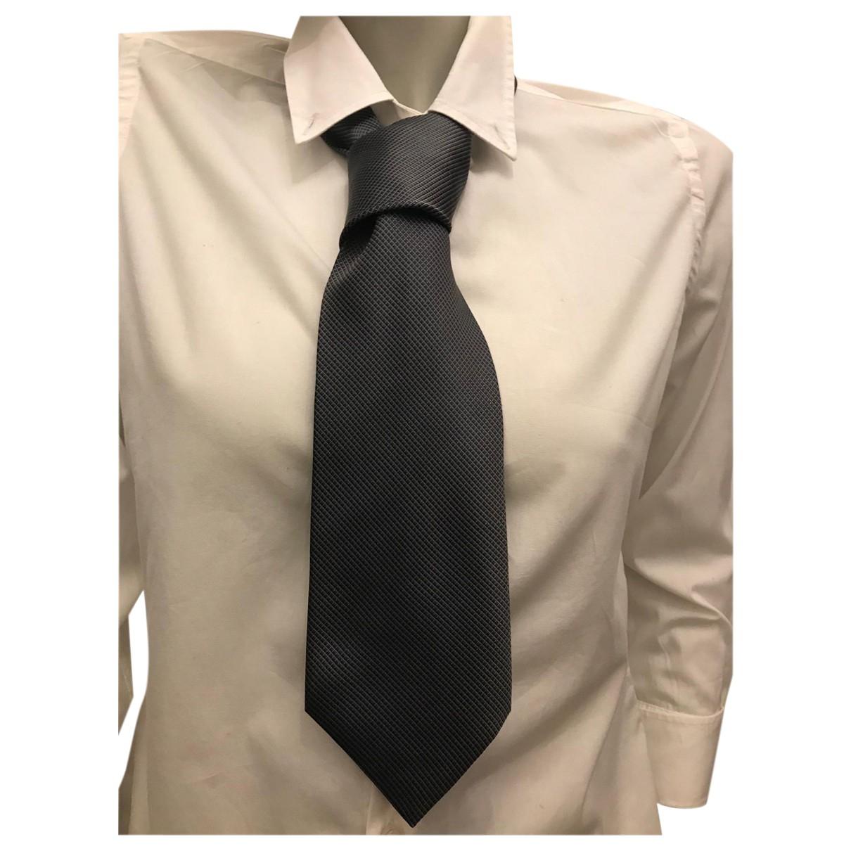 Lanvin \N Grey Silk Ties for Men \N