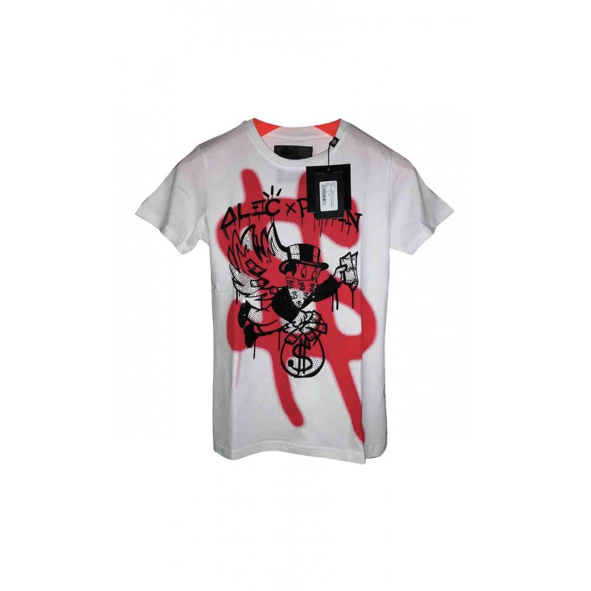 Philipp Plein \N White Cotton T-shirts for Men M International