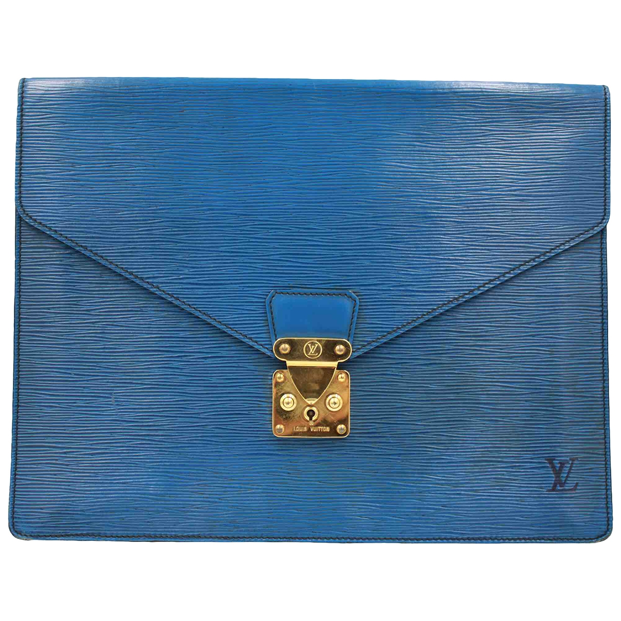 Louis Vuitton \N Kleinlederwaren in  Blau Leder