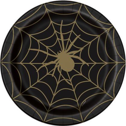 Black & Gold Spider Web Round 9