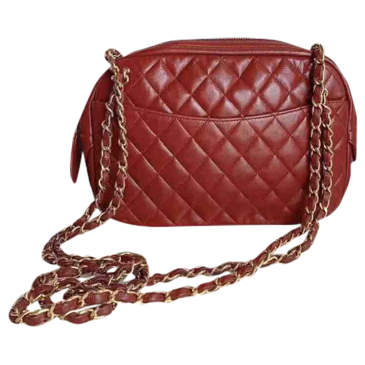 Chanel Camera Red Leather handbag for Women N