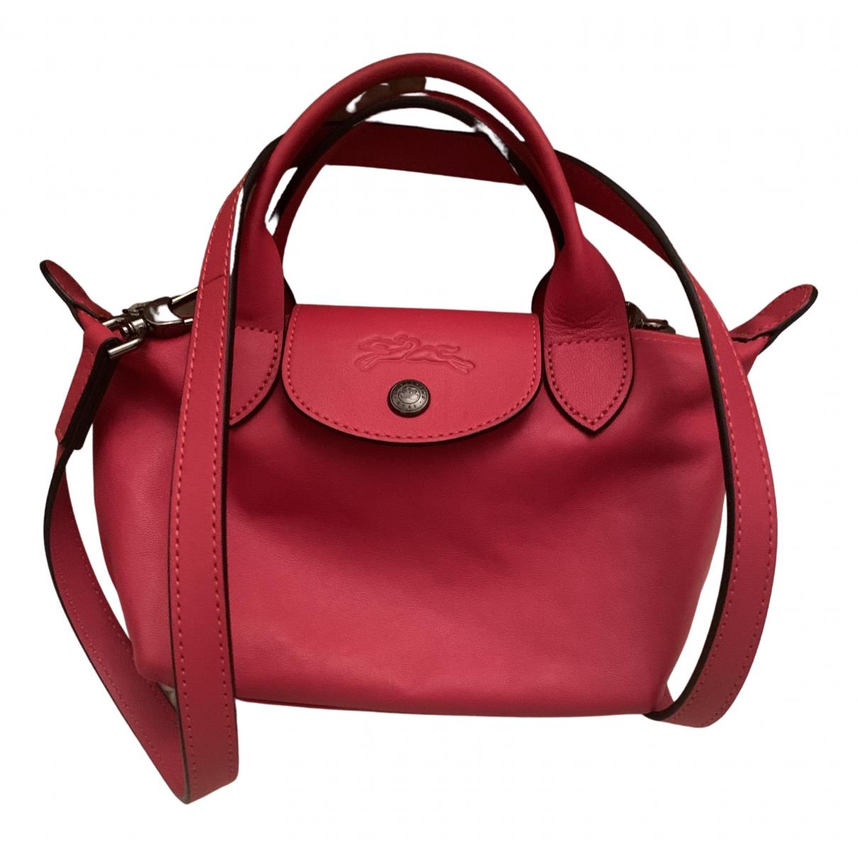 Longchamp Pliage  Handtasche in  Rosa Leder
