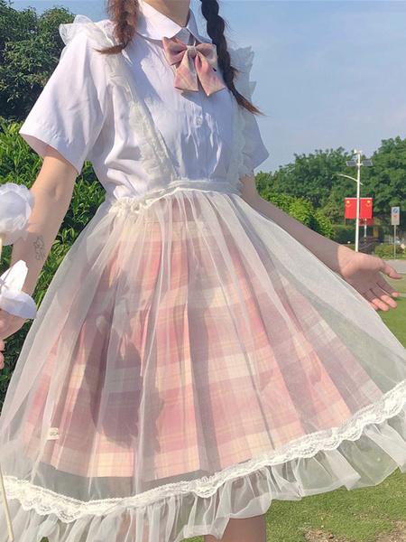 Milanoo Sweet Lolita SK Lolita Faldas con tirantes transparentes