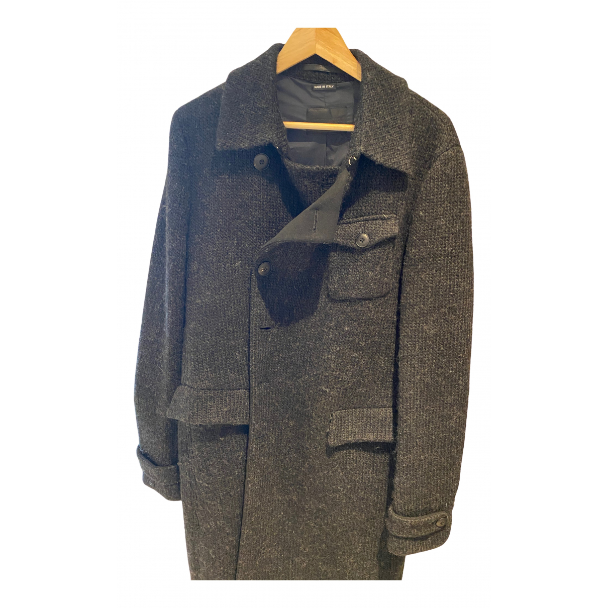 Giorgio Armani \N Anthracite Wool coat  for Men 50 IT