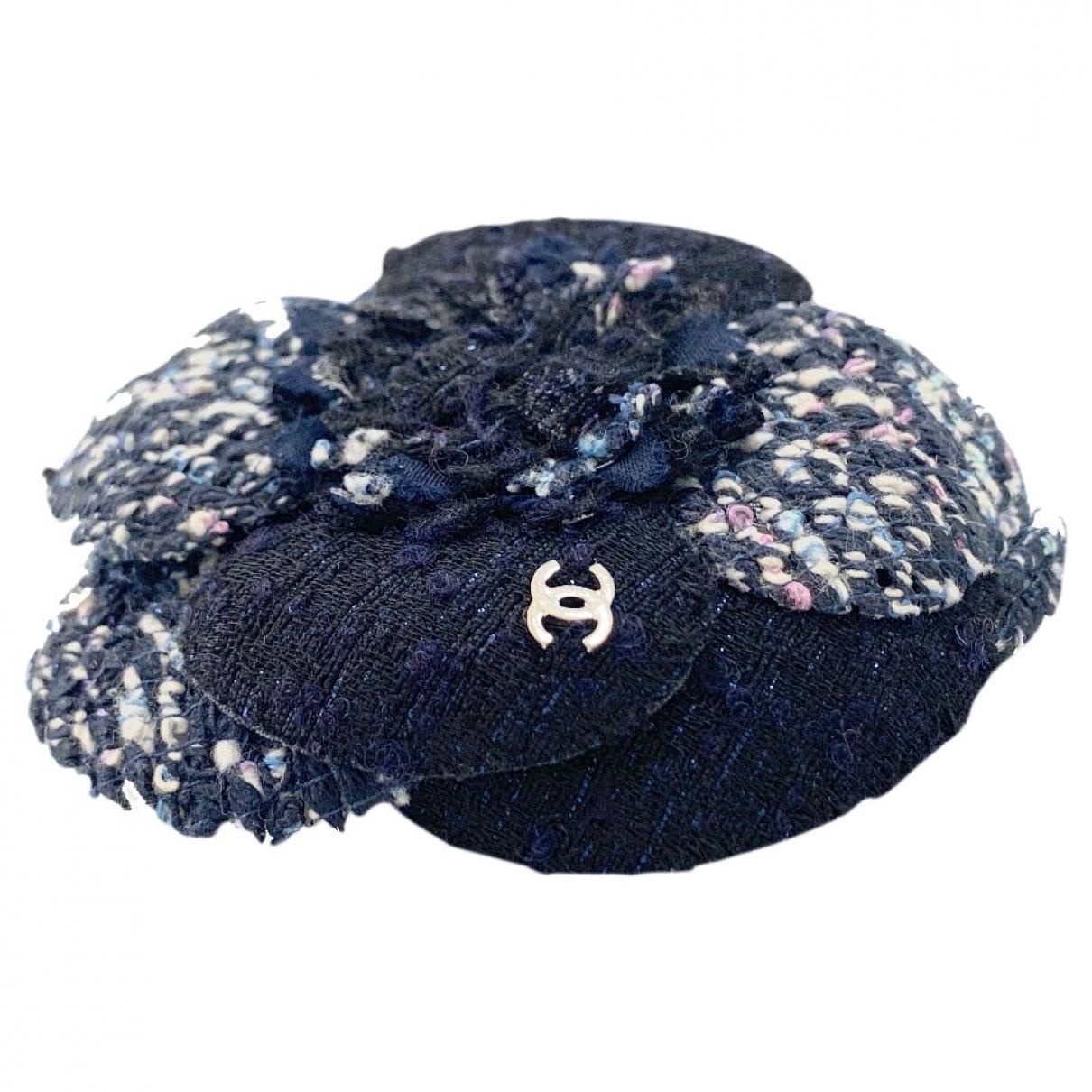 Chanel Camélia Blue Cloth Pins & brooches for Women \N