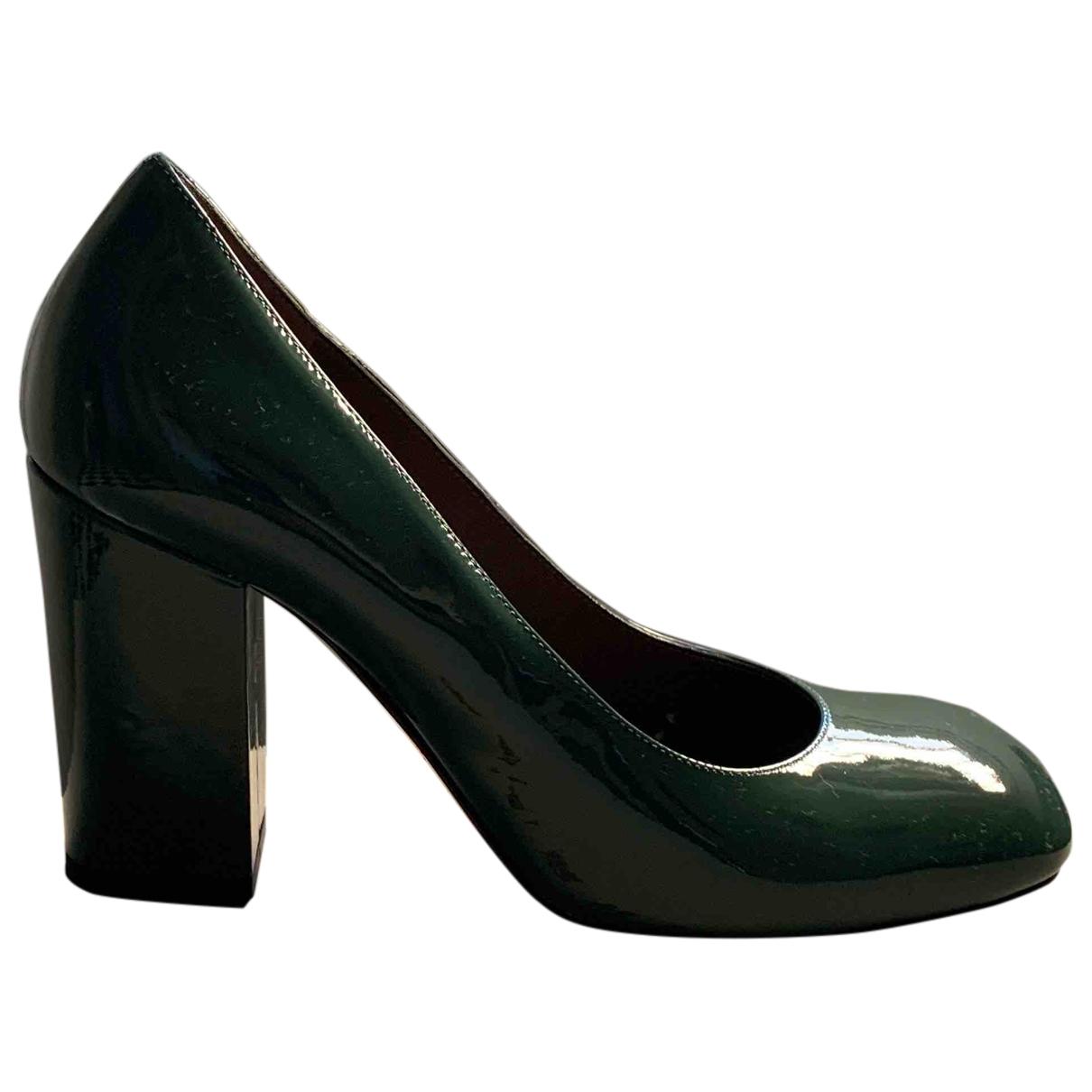 Marni - Escarpins   pour femme en cuir verni - vert
