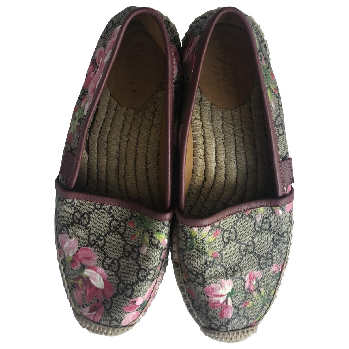Gucci \N Beige Cloth Espadrilles for Women 38.5 EU