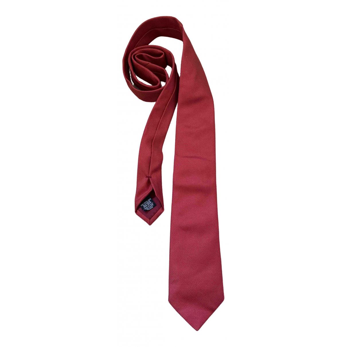 Boss \N Krawatten in  Rot Seide