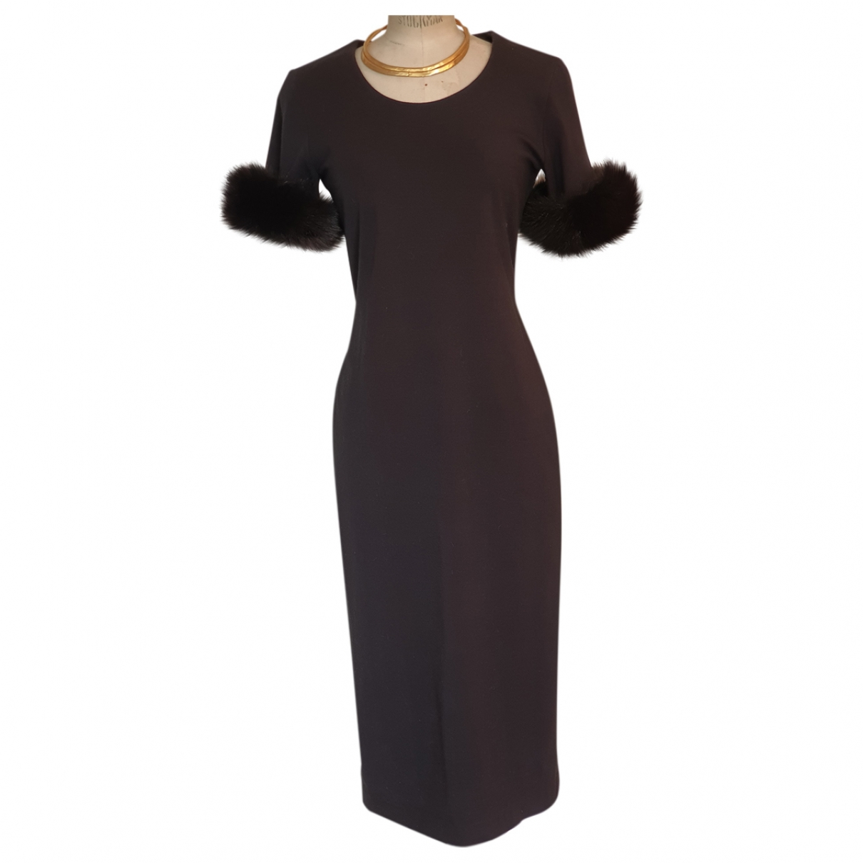 Non Signé / Unsigned \N Black Wool dress for Women 38 FR