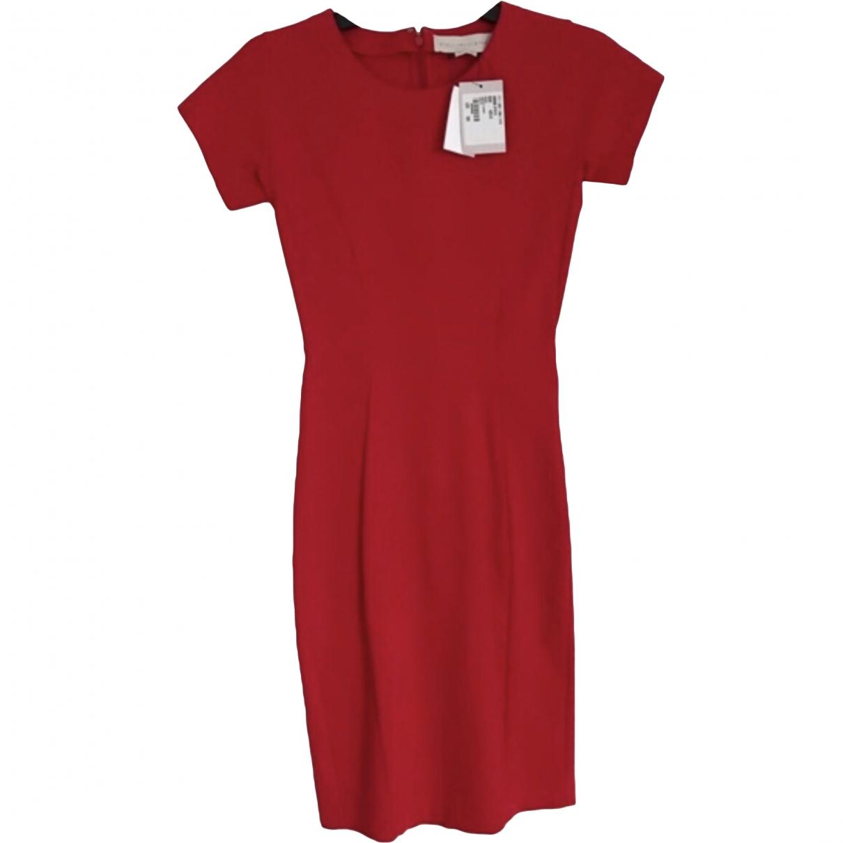 Stella Mccartney - Robe   pour femme en coton - elasthane - rouge