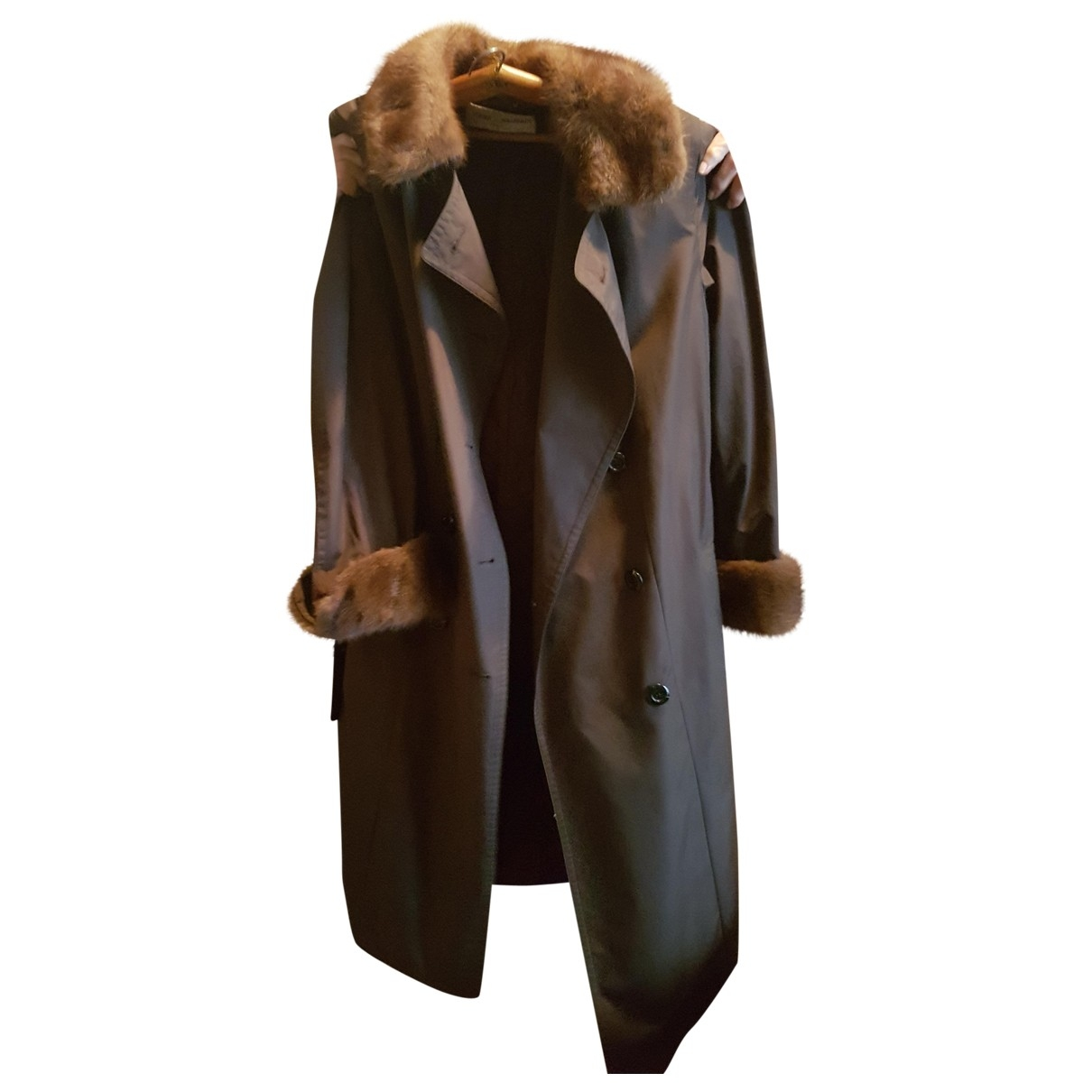 Pierre Balmain \N Brown Cotton Trench coat for Women 44 FR