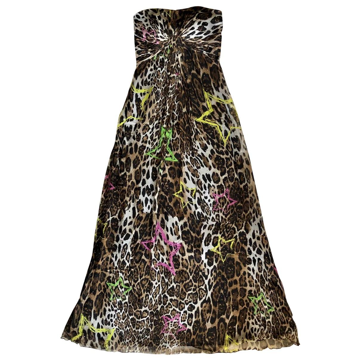 Philipp Plein - Robe   pour femme en soie - multicolore