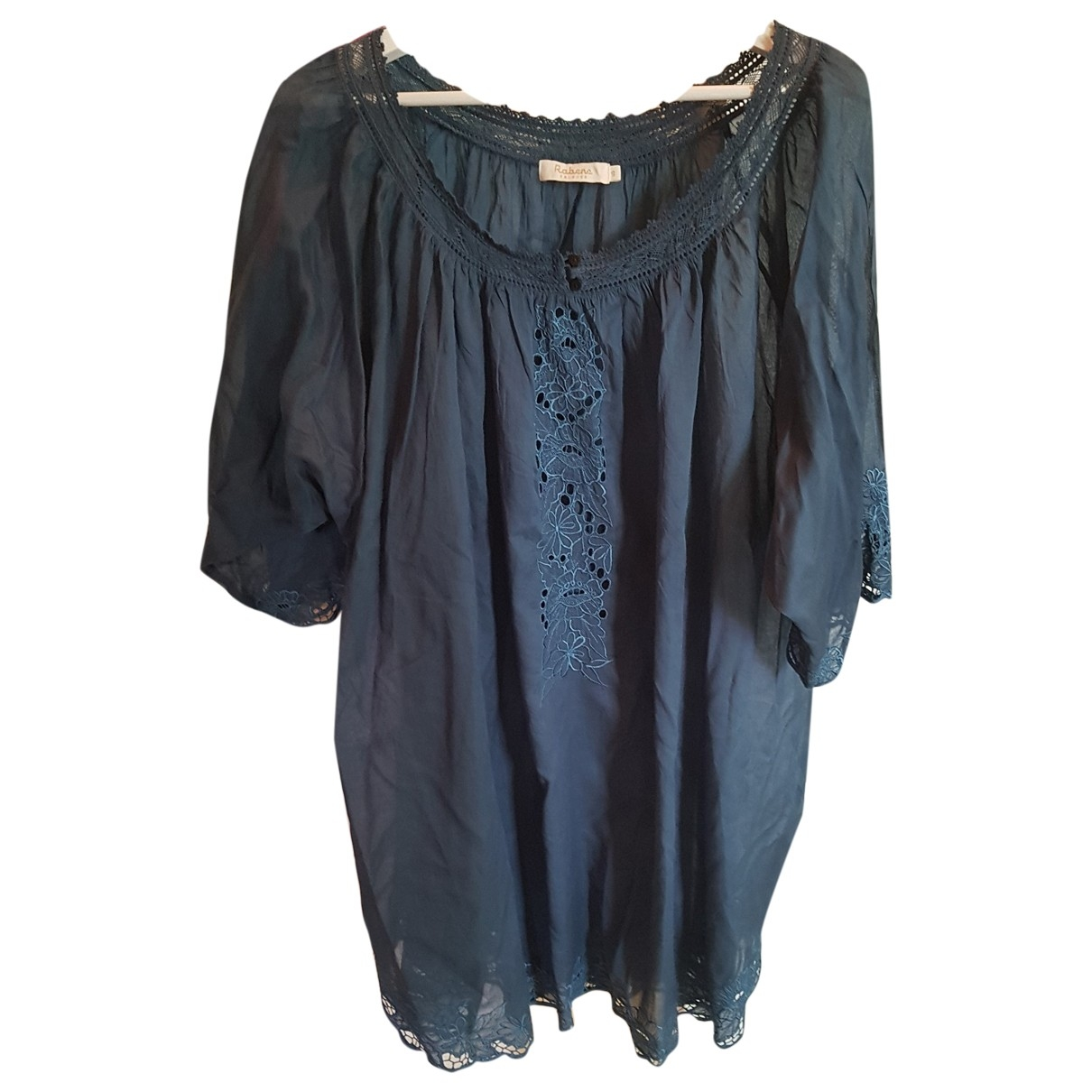 Rabens Saloner \N Kleid in  Blau Baumwolle