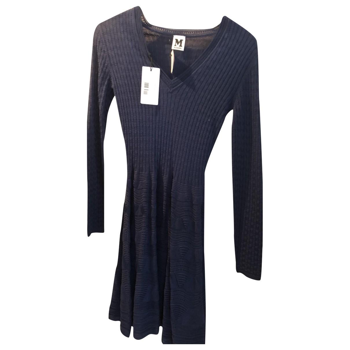 M Missoni \N Kleid in  Marine Wolle