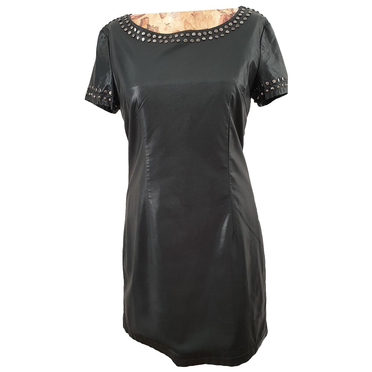 Twin Set - Robe   pour femme en cuir - noir