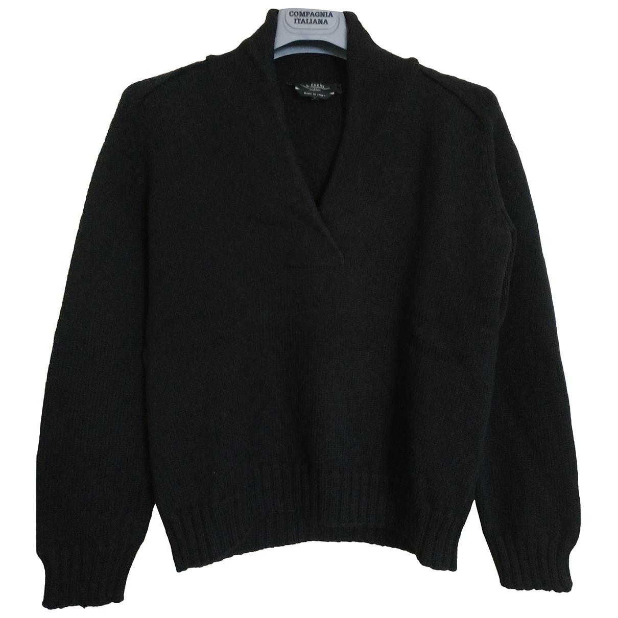 Max Mara Weekend - Pull   pour femme en laine - noir