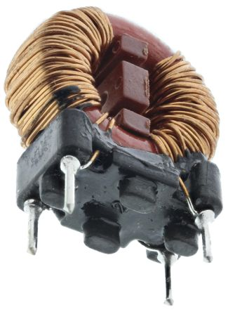 Wurth Elektronik Wurth 10 mH ±30% Leaded Inductor, 700mA Idc, 350mΩ Rdc, WE-CMB HC
