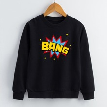 Boys Pop Art Print Sweatshirt