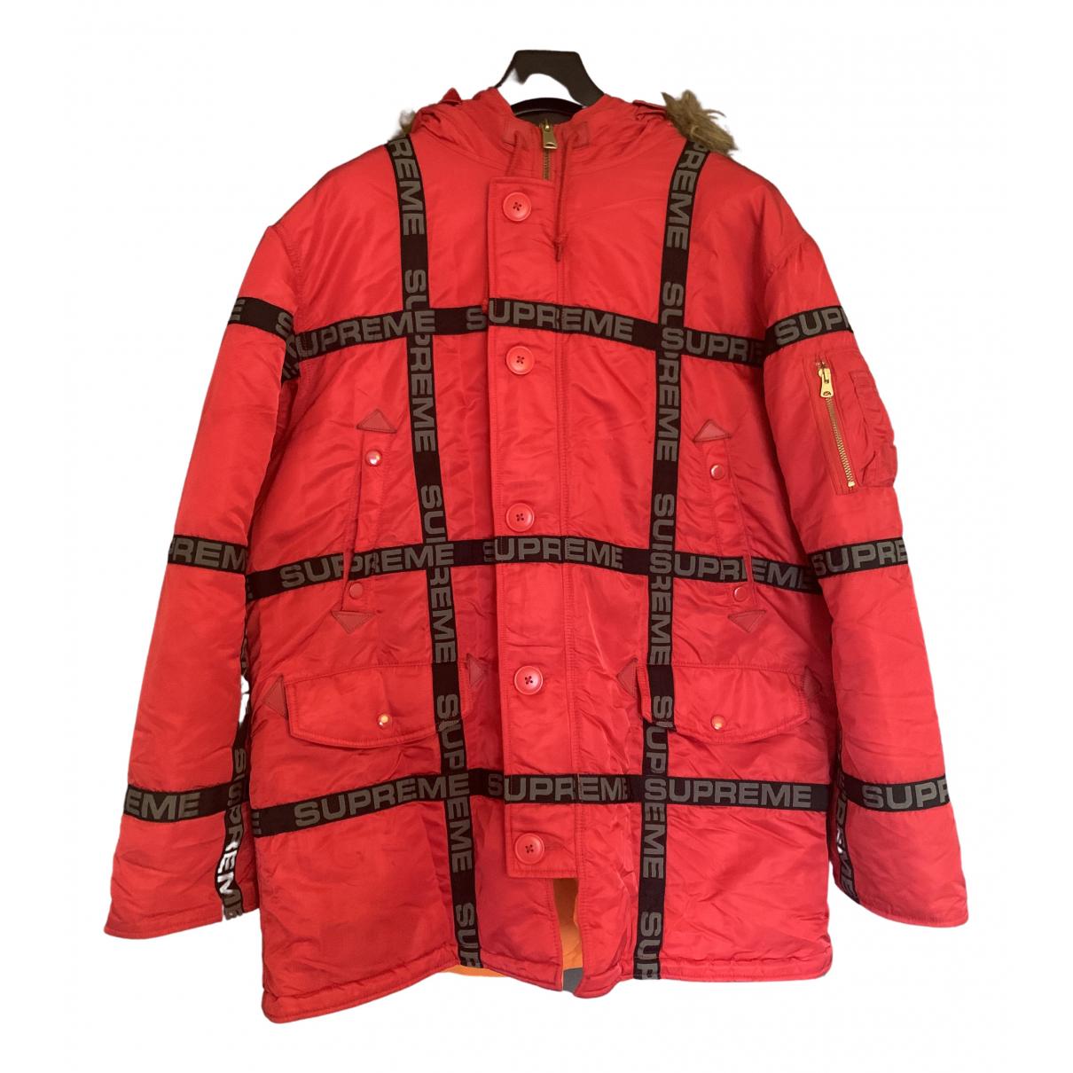 Supreme - Manteau   pour homme - rouge