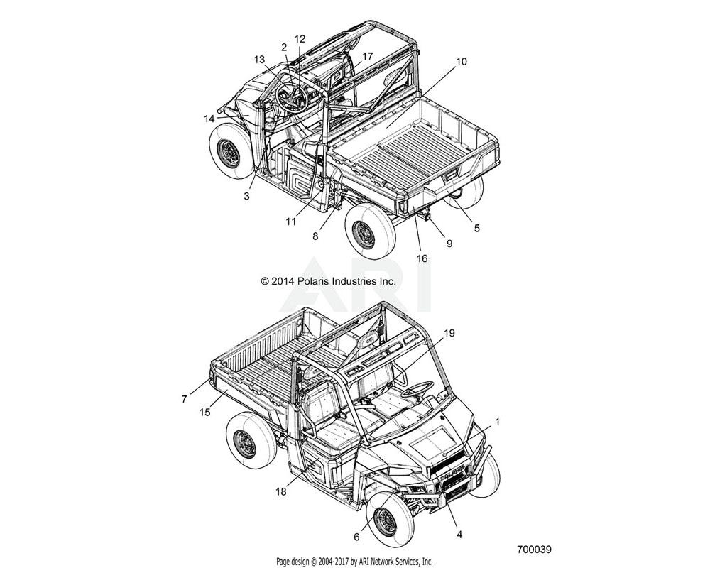 Polaris OEM 7181261 DECAL-OPERATION INSTRUCTIONS