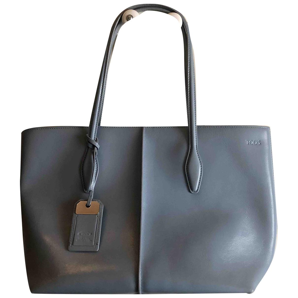 Tods \N Handtasche in  Blau Leder
