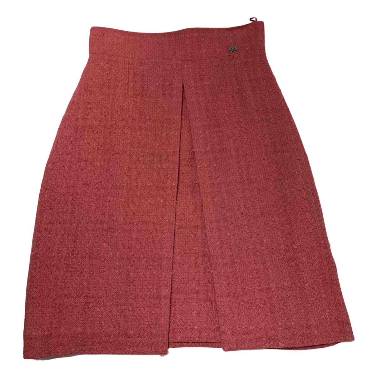 Chanel N Pink Wool skirt for Women 38 FR