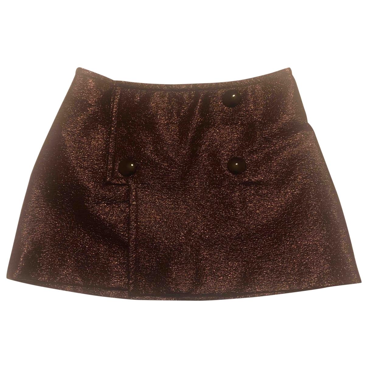 Mini falda de Cuero Bally