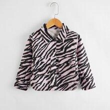Jacke mit Taschen Klappe und Zebra Streifen