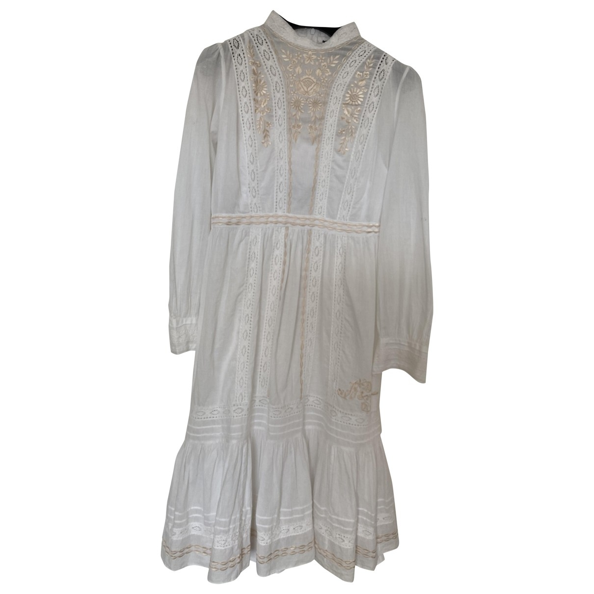 Needle & Thread \N Kleid in  Weiss Baumwolle