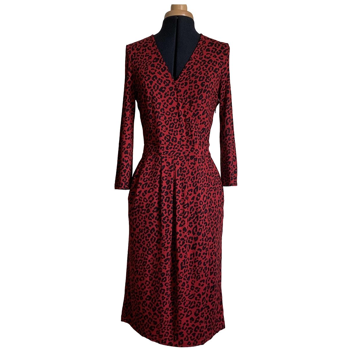 Jaeger \N Kleid in  Rot Viskose