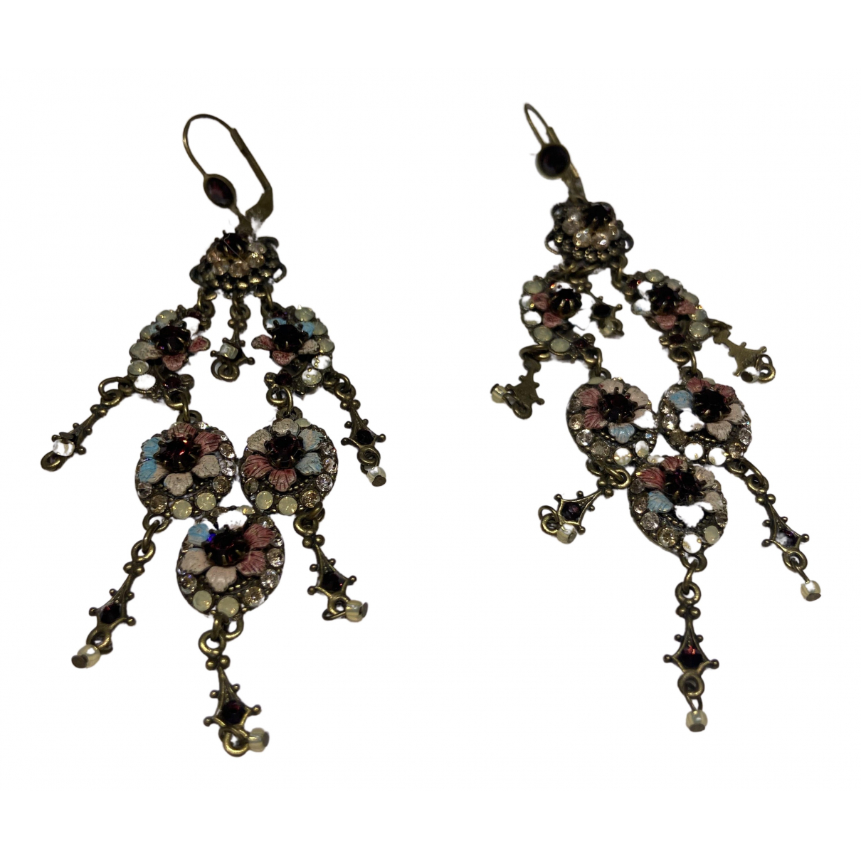 Non Signé / Unsigned \N Multicolour Metal Earrings for Women \N