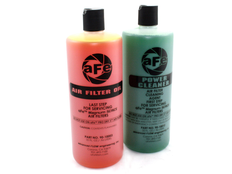 aFe POWER 90-50520 Air Filter Restore Kit: 32 oz Gold Oil & Power Cleaner (Squeeze Bottles)