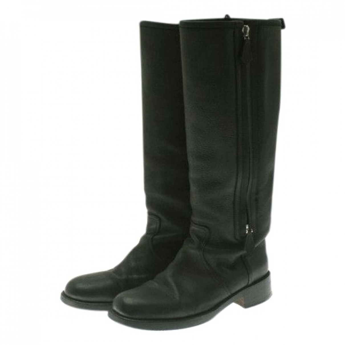 Hermès \N Black Leather Boots for Women 36.5 EU