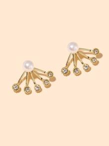 Faux Pearl Decor Earrings