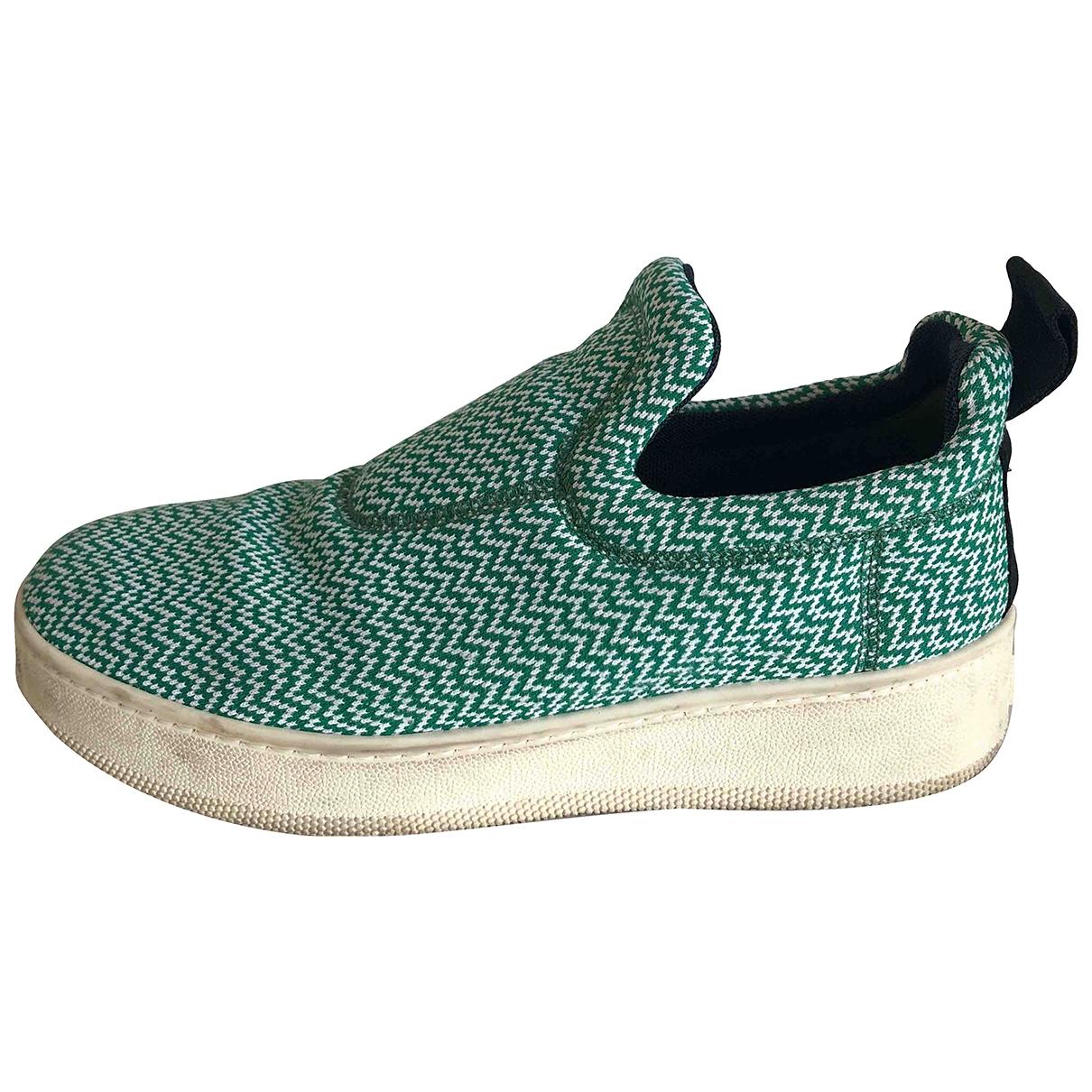 Celine - Baskets Pull On  pour femme en toile - vert