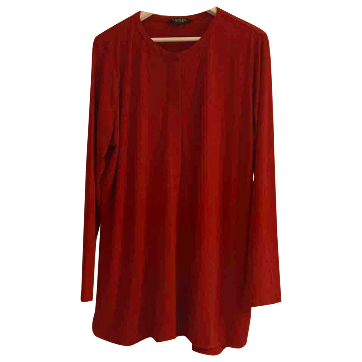 Lauren Ralph Lauren - Top   pour femme en coton - rouge